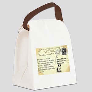 Post Office complaint humor Canvas Lunch Bag