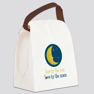 Love By The Moon Canvas Lunch Bag