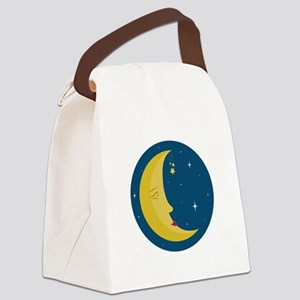 Man In Moon Canvas Lunch Bag