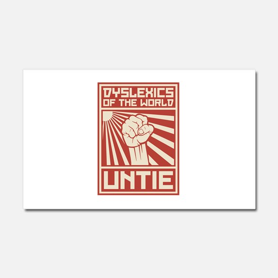 Dyslexics of the World UNTIE Car Magnet 20 x 12