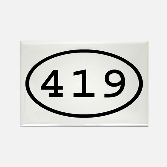 419 Oval Rectangle Magnet