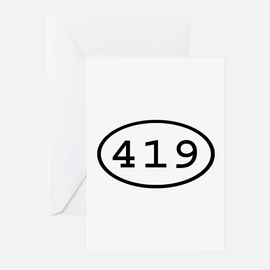 419 Oval Greeting Cards (Pk of 10)