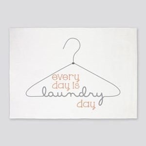 Every Day Is Laundry Day 5'x7'Area Rug