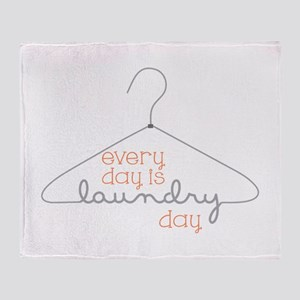 Every Day Is Laundry Day Throw Blanket
