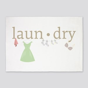 Laundry 5'x7'Area Rug