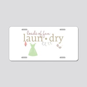 Loads Of Fun Laundry Aluminum License Plate