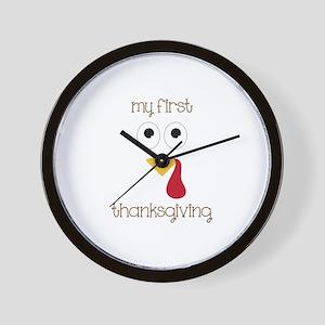 My First Thanksgiving Wall Clock