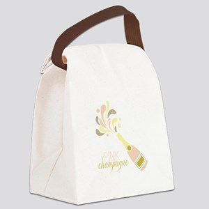 PINK champagne Canvas Lunch Bag