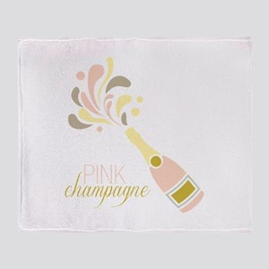 PINK champagne Throw Blanket