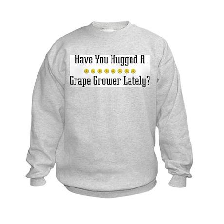 Hugged Grape Grower Kids Sweatshirt