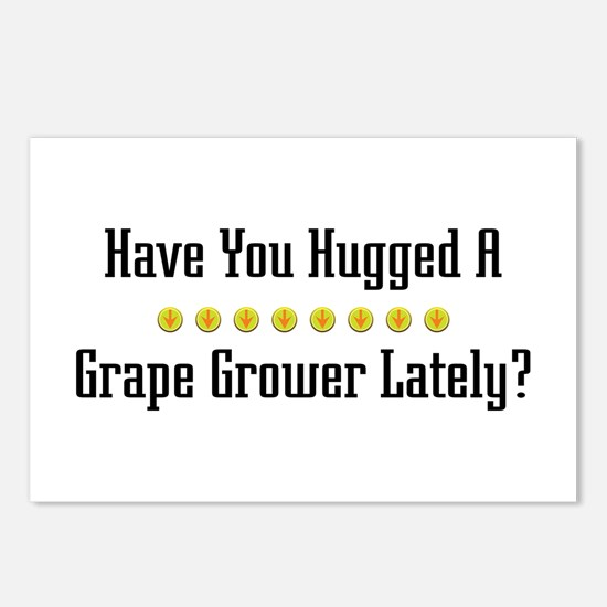 Hugged Grape Grower Postcards (Package of 8)