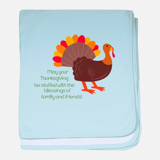 May Your Thanksgiving baby blanket