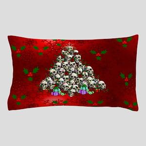 Merry Christmas Skulls Pillow Case