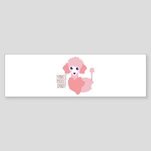 Yankee Poodle Dandy Bumper Sticker