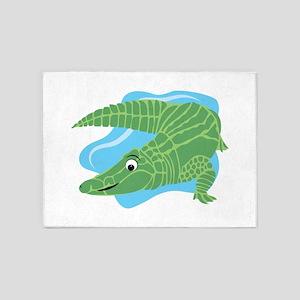 Alligator Swamp 5'x7'Area Rug