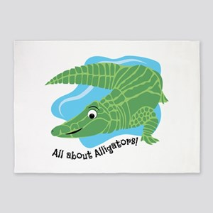 All About Alligators 5'x7'Area Rug