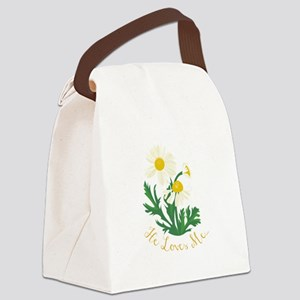He Loves Me Canvas Lunch Bag