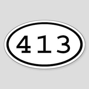 413 Oval Oval Sticker