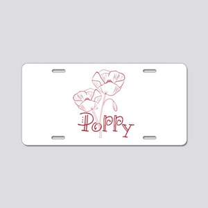 Poppy Aluminum License Plate