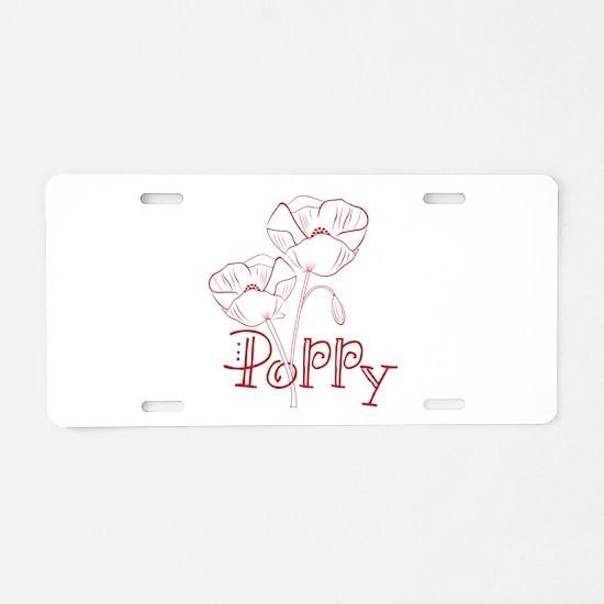 Poppy Aluminum License Plate