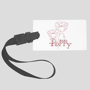 Poppy Luggage Tag