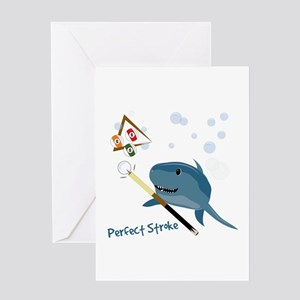 Perfect Stroke Greeting Cards