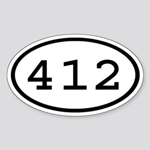 412 Oval Oval Sticker