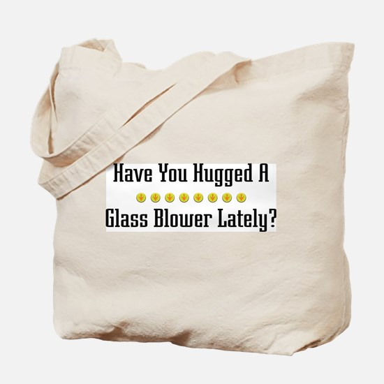 Hugged Glass Blower Tote Bag