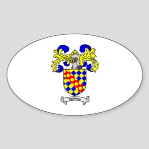 WALDRON Coat of Arms Oval Sticker