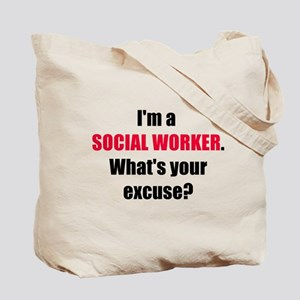 Social Work Excuse Tote Bag