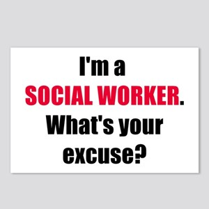 Social Work Excuse Postcards (Package of 8)