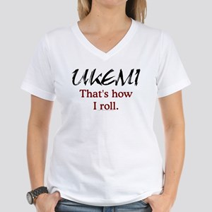 Ukemi - How I roll Women's V-Neck T-Shirt