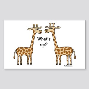 What's up? Giraffe Rectangle Sticker