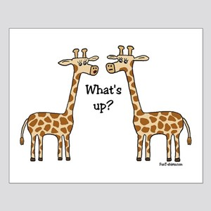 What's up? Giraffe Small Poster