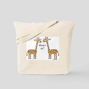 What's up? Giraffe Tote Bag