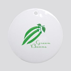 Green Beans Ornament (Round)