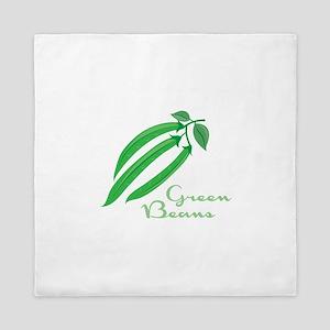 Green Beans Queen Duvet