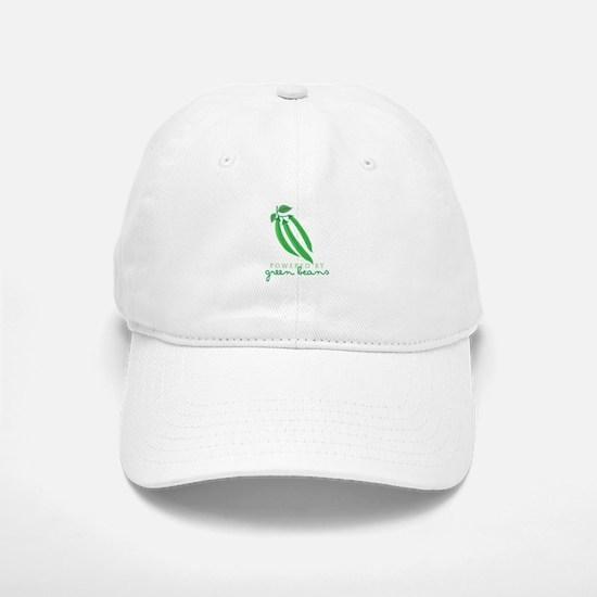 Powered By Green Beans Baseball Baseball Baseball Cap