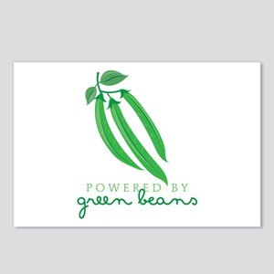Powered By Green Beans Postcards (Package of 8)
