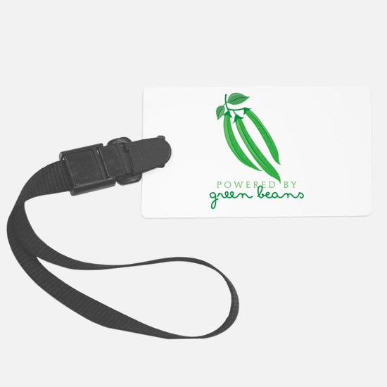 Powered By Green Beans Luggage Tag