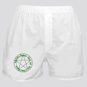 Witches - Green Pent Boxer Shorts