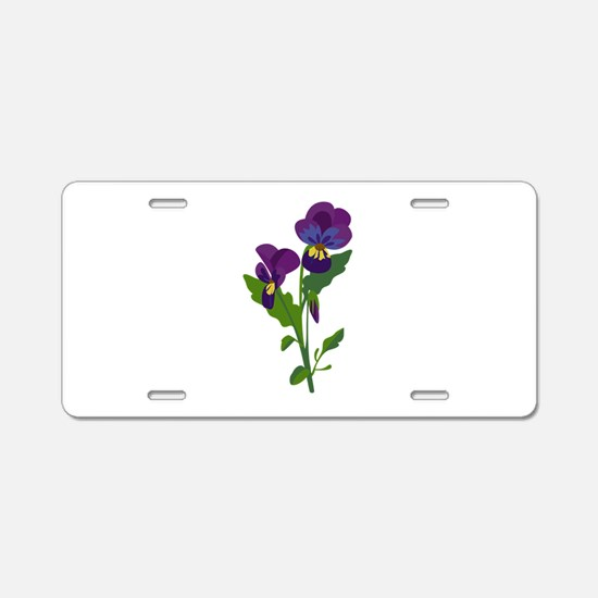 Sweet Violets Aluminum License Plate