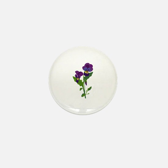 Sweet Violets Mini Button