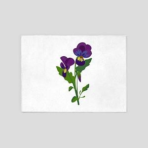 Sweet Violets 5'x7'Area Rug