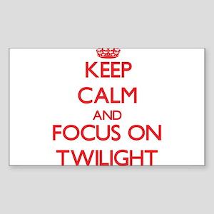 Keep Calm and focus on Twilight Sticker