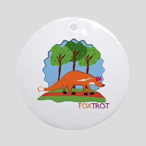 Fox Trot Ornament (Round)