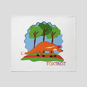 Fox Trot Throw Blanket