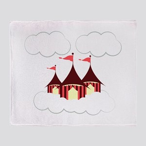 Circus Clouds Throw Blanket