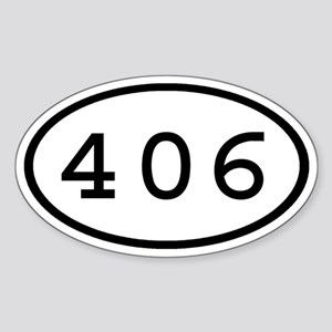 406 Oval Oval Sticker