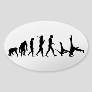 Evolution of Capoeira Sticker (Oval)